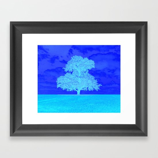 Double Tree Framed Art Print