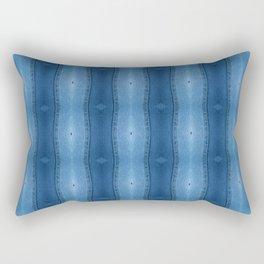 Denim Diamond Waves vertical patten Rectangular Pillow