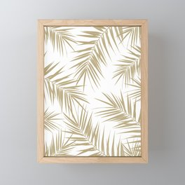 Palm Leaves Cali Finesse #2 #gold #tropical #decor #art #society6 Framed Mini Art Print
