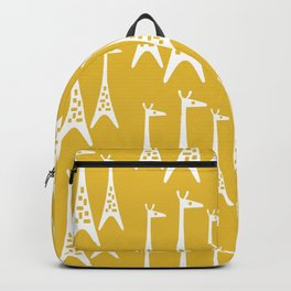 Mid Century Modern Giraffe Pattern 221 Mustard Yellow Backpack