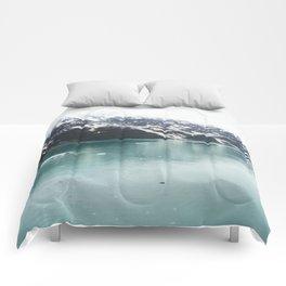 Hubbard Glacier Snowy Mountains Alaska Wilderness Comforters