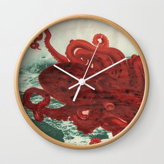 Octopus Beach Wall Clock