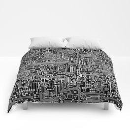 Circuit Board on Black Comforters