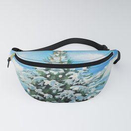 The Day After Snow Scene Art Fanny Pack