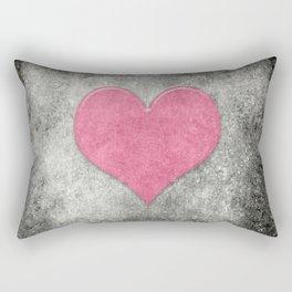 Grunge with heart Rectangular Pillow
