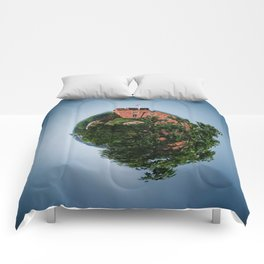Tiny Planet 4 - Sky Castles Comforters