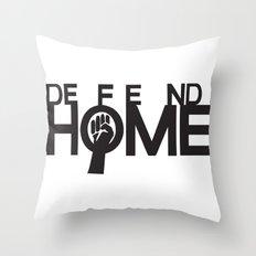 Defend Home Throw Pillow
