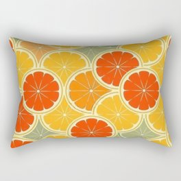 Summer Citrus Slices Rectangular Pillow