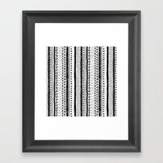 Black and White Pattern 2 Framed Art Print