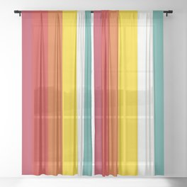 Retro Trickster B Sheer Curtain