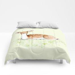 Happy Fallow Deer Comforters