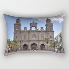 Las Palmas Cathedral Rectangular Pillow