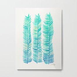 Seafoam Seaweed Metal Print