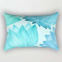 Lotus Love II / Zen Teal Palette Rectangular Pillow