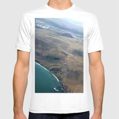 Iceland From Air Mens Fitted Tee White MEDIUM