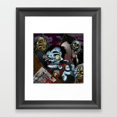 the dead walk Framed Art Print