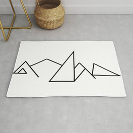 Seven Summit Mountains Geographic Design Rug