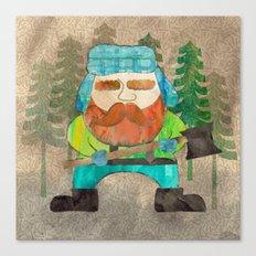 Lumberjack Attack, Modern Mr. Lumberjack Canvas Print