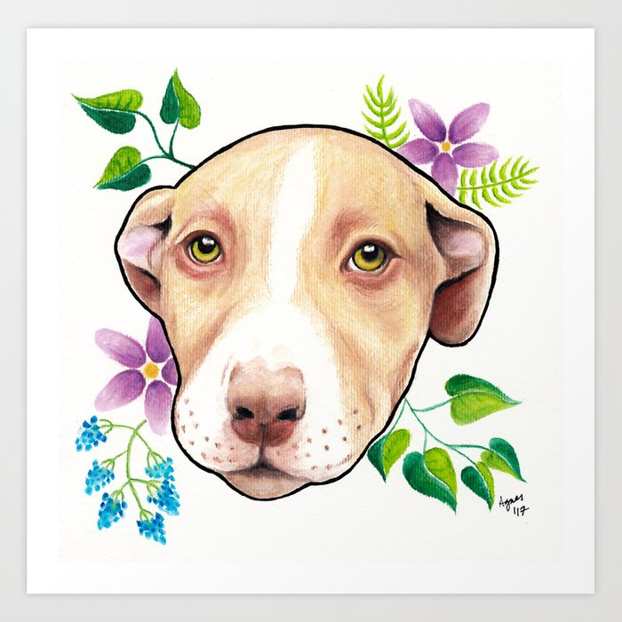 Good Girl (includes rescue donation!) Art Print