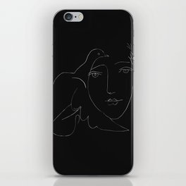 Picasso Line Art - Dove and Woman iPhone Skin