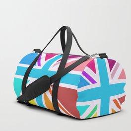 Square Based Union Jack/Flag Design Multicoloured Duffle Bag