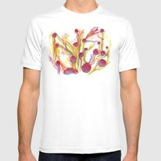 Iceland Abstracted #40 Mens Fitted Tee White MEDIUM