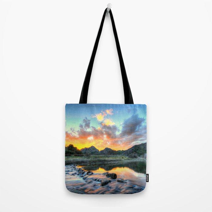 Sunset Landscape #river Tote Bag