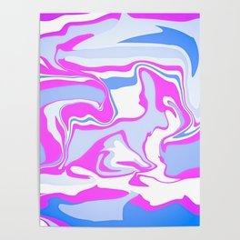 Pink and Blue Poster