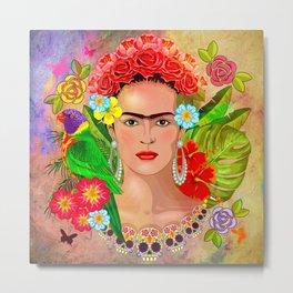 Frida Kahlo 3 Metal Print