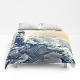 Lighthouse on fire Comforters