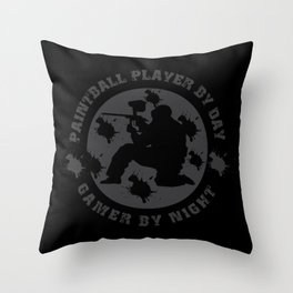 Great Paintball Design For Outdoor Gotcha Players Throw Pillow
