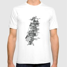 Treehouse White MEDIUM Mens Fitted Tee