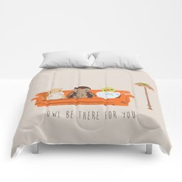 Owl Be There For You Comforters