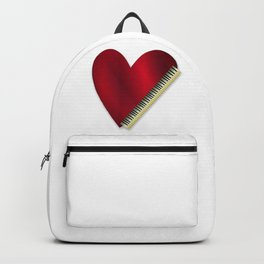 Love Playing Piano Backpack
