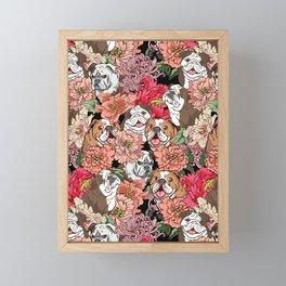 Because English Bulldog Framed Mini Art Print