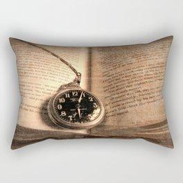 Rustic Story Time Still life Book Watch Modern Cottage Chic Art A551 Rectangular Pillow
