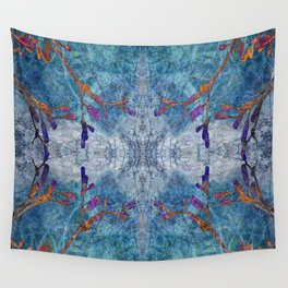 Snowflakes & Wine Wall Tapestry