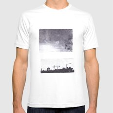 over White Mens Fitted Tee MEDIUM