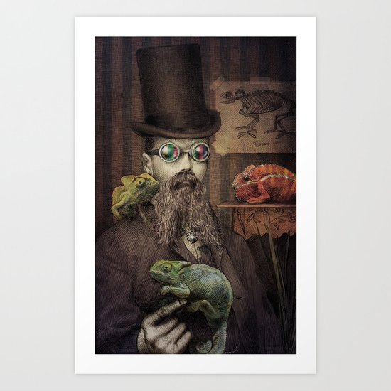The Chameleon Collector Art Print