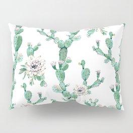 Cactus Rose Climb on White Pillow Sham