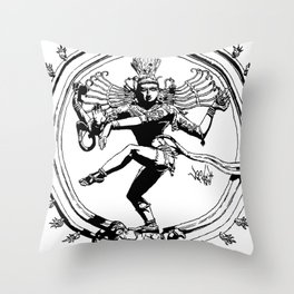 Natraj Dance - Mono Throw Pillow