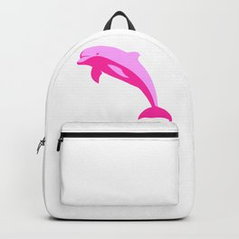 Pink Dolphin Silhouette Backpack
