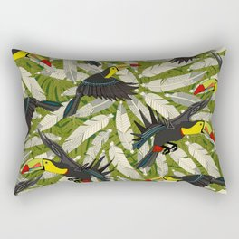 toucan jungle Rectangular Pillow