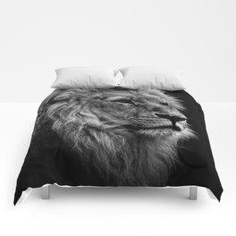 Black Print Lion Comforters