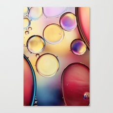Colourful Oil Drops Canvas Print