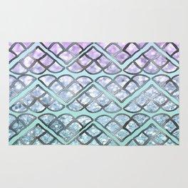 MERMAID Glitter Scales Dream #2 #shiny #decor #art #society6 Rug