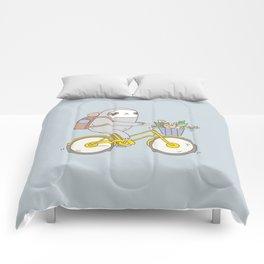 Biking Sloth Comforters