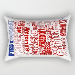 The First Amendment Rectangular Pillow