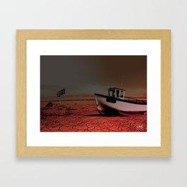 Desert Boat Framed Art Print