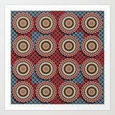 Elegance Emblems Pattern Art Print